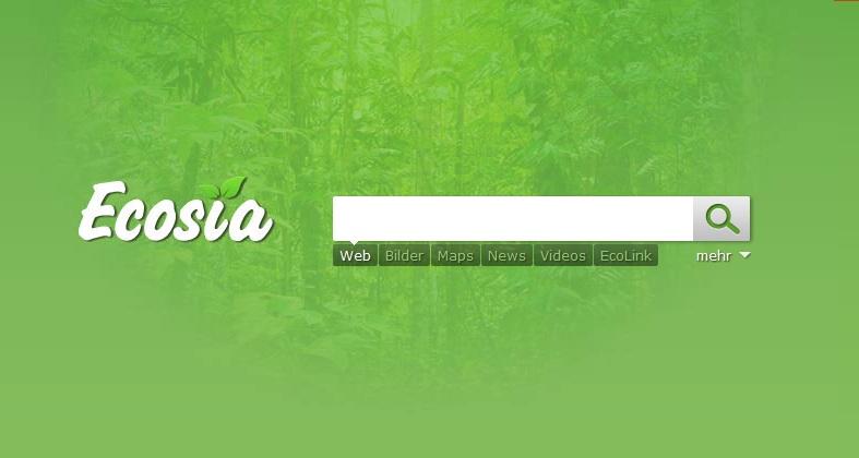 Ecosia - die grüne Suche
